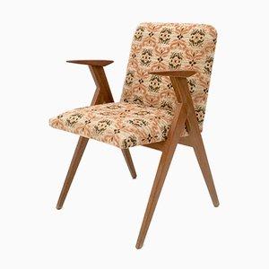 Italienischer Stuhl mit Stoffbezug, 1950er