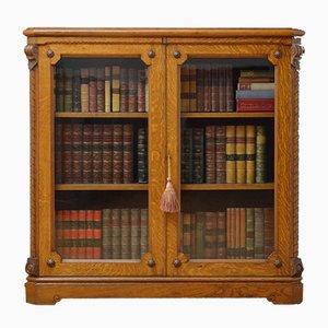 Antikes viktorianisches Bücherregal aus Eiche