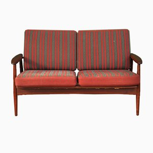 Mid-Century Teak 2-Seat Sofa
