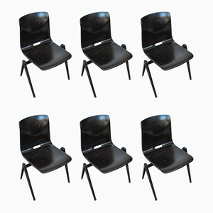Industrial Dining Chairs from Galvanitas, 1970s, Set of 6