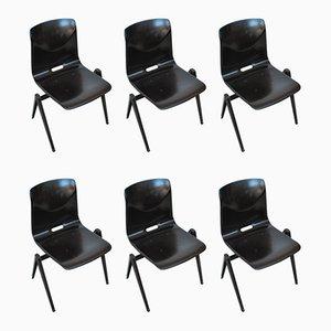 Industrielle Esszimmerstühle von Galvanitas, 1970er, 6er Set