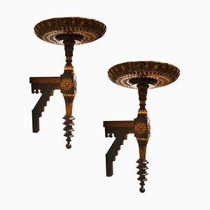 Mensole antiche decorative di Carlo Bugatti per Bugatti, set di 2