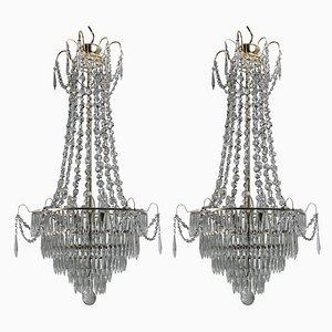 Lámparas de araña suecas vintage, años 30. Juego de 2