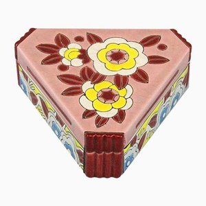 Art Deco Ceramic Box from Longwy, 1920s