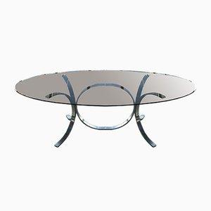 Mesa de comedor de vidrio ahumado de Osvaldo Borsani, años 70