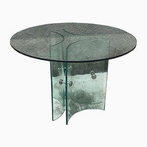 Tavolo da pranzo in vetro, Italia, anni '60