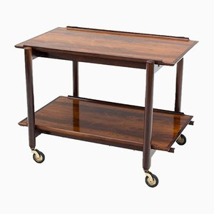 Danish Rosewood Trolley by Poul Hundevad for Hundevad & Co., 1960s