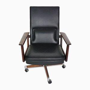 Chaise de Bureau en Palissandre et Cuir par Arne Vodder pour Sibast, 1960s