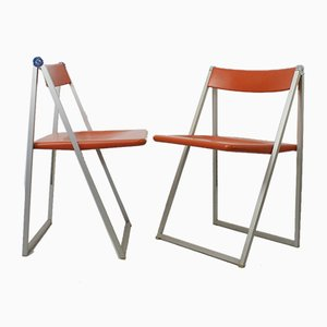 Vintage Folding Chairs by Team Form AG for Interlübke, 1970s, Set of 2