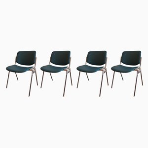 Dining Chairs by Giancarlo Piretti for Castelli / Anonima Castelli, 1970s, Set of 4