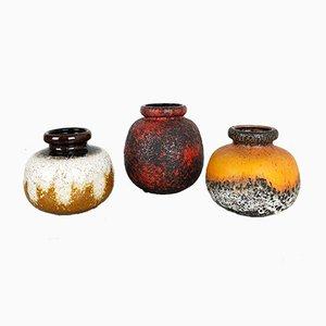 Vases Vintage en Poterie de Scheurich, Set de 3