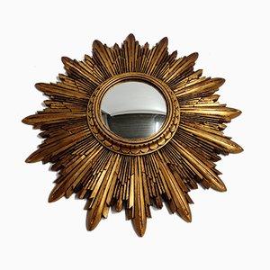 Gilded Resin Sunburst Mirror, 1960s