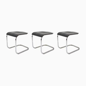 Bauhaus Tubular Chrome Stools by Mart Stam, 1930s, Set of 3