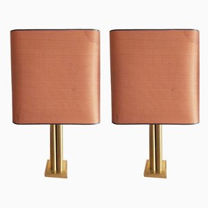 Brass Table Lamps from Belgo Chrom / Dewulf Selection, 1970s, Set of 2