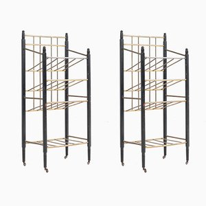 Art Deco Magazine Racks from Rockhausen Ernst, 1920s, Set of 2