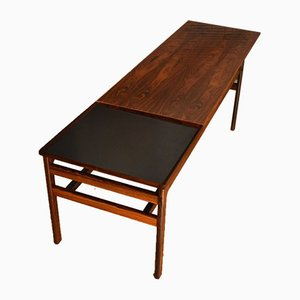 Mesa de centro de palisandro de Hans Olsen para Buck & Kjaer, años 60