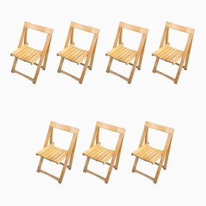 Folding Chairs by Aldo Jacober for Alberto Bazzini, 1960s, Set of 7