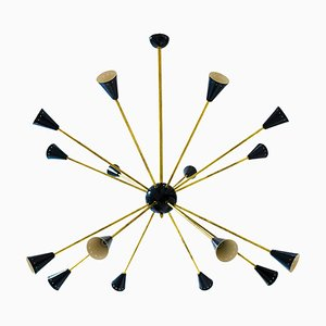 Lámpara de araña Sputnik Mid-Century, años 60
