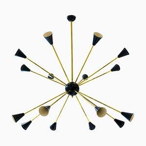 Mid-Century Sputnik Chandelier, 1960s