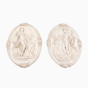 Wandtafeln aus Keramik von Bertel Thorwaldsen, 1830er, 2er Set