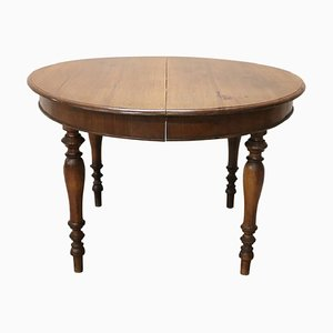 Antique Walnut Extendable Dining Table, 1850s