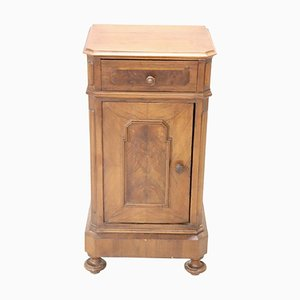 Antique Walnut Nightstand, 1880s
