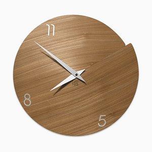 Orologio da parete Vulcano numerato di Andrea Gregoris per Lignis