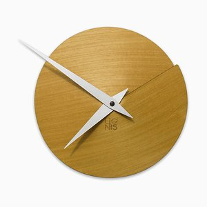 Reloj de pared Vulcanello de Andrea Gregoris para Lignis