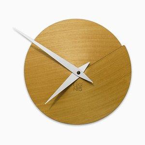 Vulcanello Wall Clock by Andrea Gregoris for Lignis
