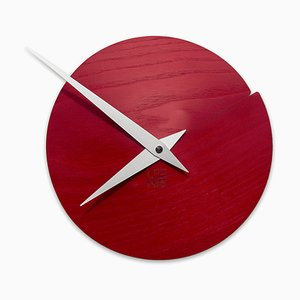Vulcanello Wall Clock by Andrea Gregoris for Lignis