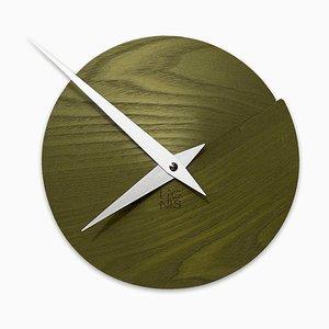 Orologio da parete Vulcanello di Andrea Gregoris per Lignis