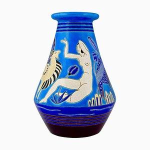 Keramikvase von Primavera für Longwy, 1920er