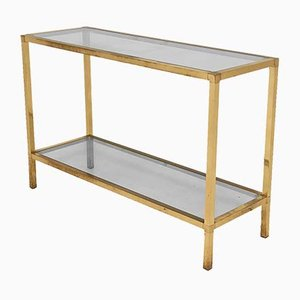 Golden Metal Console Table, 1970s