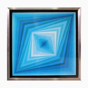 Op-Art Rhombus Druck von Victor Vasarely, 1970er