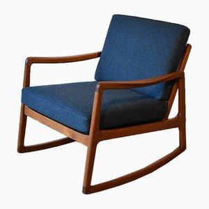 Sedia a dondolo nr. 120 di Ole Wanscher per France & Søn/France & Daverkosen, anni '60