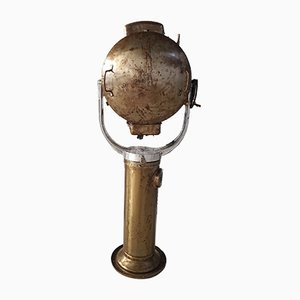 Vintage Brass Naval Floor Lamp