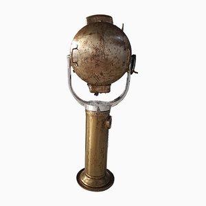 Vintage Naval Stehlampe aus Messing