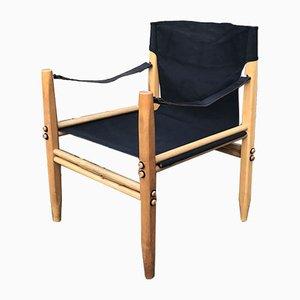 Italienischer Oasis Armlehnstuhl aus Buche & Leinen von Gian Franco Legler für Zanotta, 1960er