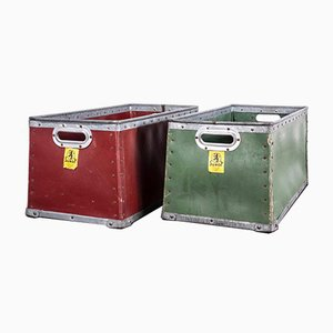 Stackable Suroy Storage Boxes by Alfred Thirez for Esquermes, 1950s, Set of 2