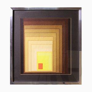 Lámina de geometrías Op Art de Victor Vasarely, años 70