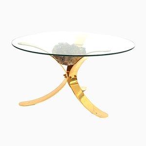 Table Basse Hollywood Regency à Minéraux Vintage
