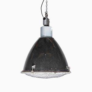 Große industrielle emaillierte Deckenlampe, 1950er