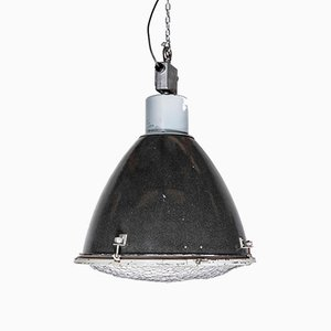 Large Industrial Enamelled Ceiling Lamp, 1950s