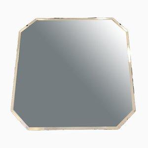 Quadratischer Spiegel mit angeschrägtem Glas, 1930er