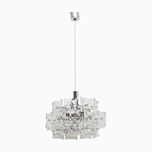 German Prism Crystal Chandelier from Kinkeldey, 1970s