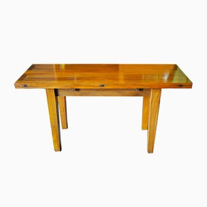 Mesa de comedor plegable de teca, años 60