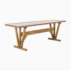 Mesa de comedor de pino, años 50
