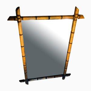 Bohemian Faux Bamboo Mirror, 1950s