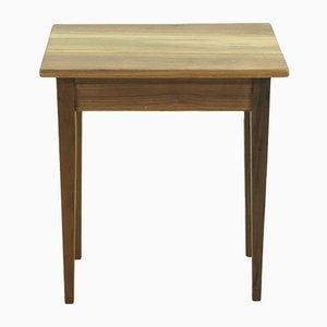 Small Antique Walnut Biedermeier Console Table