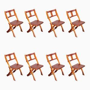 Chaises Pliantes en Teck de Drifter, 1950s, Set de 10